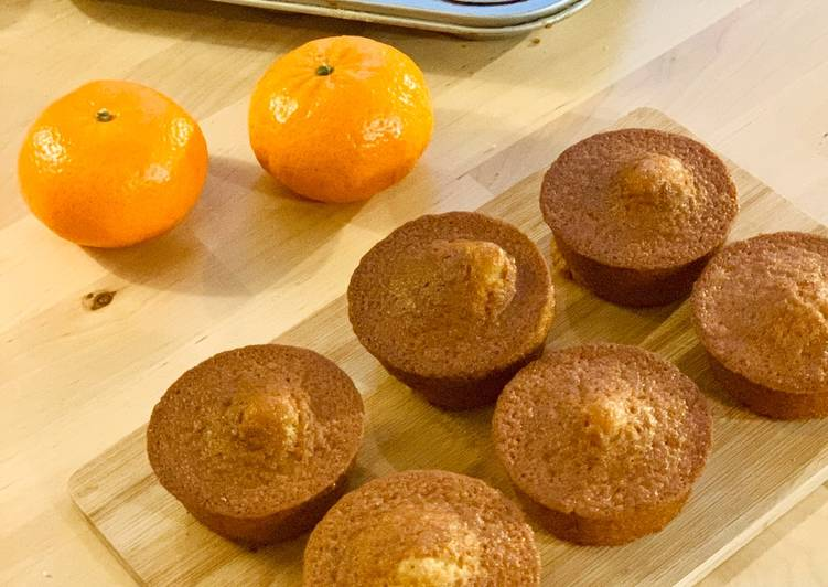 Petits gâteaux au yaourt, mandarine et miel