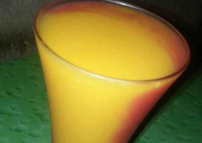Blended fresh juice