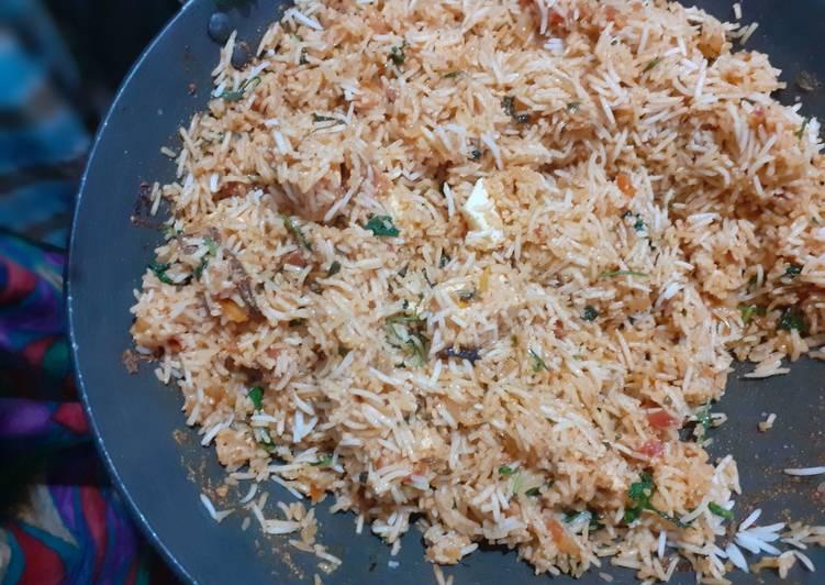 How to Make Super Quick Homemade Paneer dum biriyani