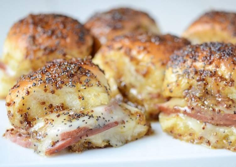 Hot ham and cheese sammies