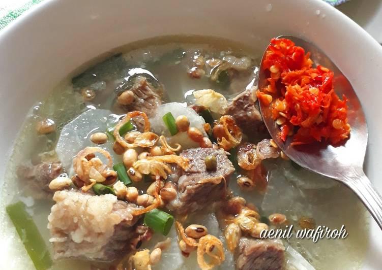 Soto Bandung Enak 💕 (soto daging sapi + lobak)
