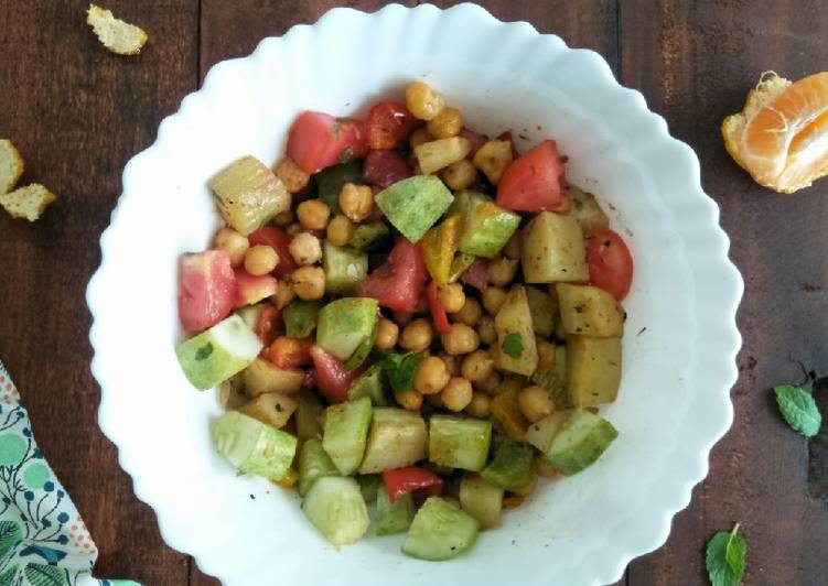 Recipe of Super Quick Homemade Chickpeas And Sweet Potato Salad In Citrus Dressing