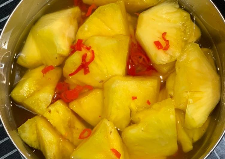 Easiest Way to Make Quick Spicy Sour Pineapple