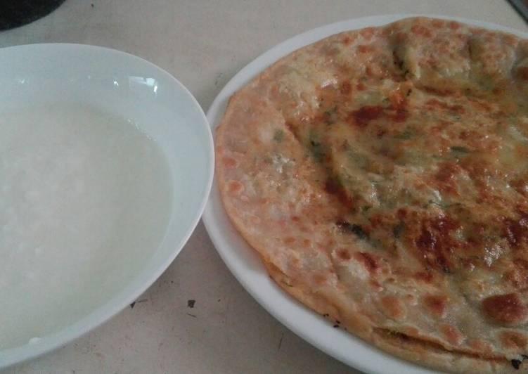 Living Greener for Good Health By Eating Superfoods Aalu wala pratha