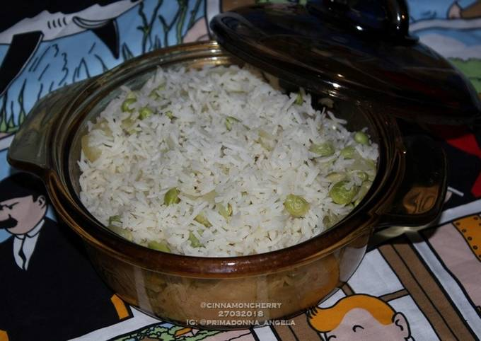 Recipe: Delicious Steamed Rice with Edamame and Vegetable Stock (One Pot Recipe)