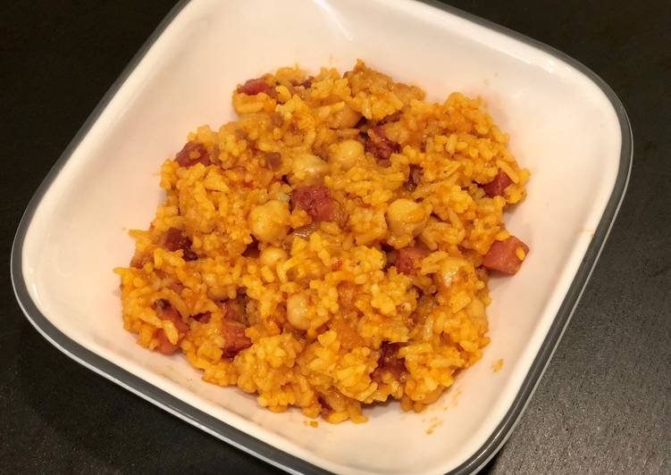 Puerto Rican Rice with Chick Peas