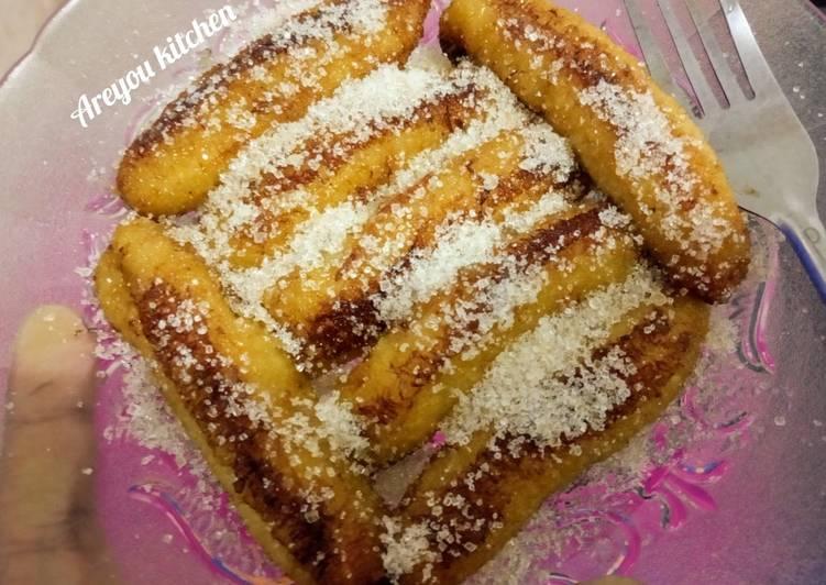 Bagaimana Menyiapkan Pisang goreng manis simple banget yang Bikin Ngiler