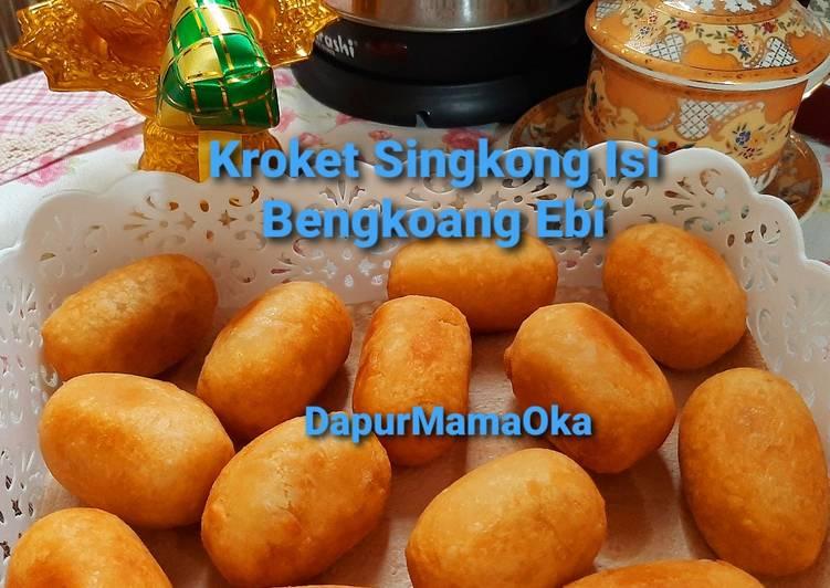 Kroket Singkong Isi Bengkoang Ebi