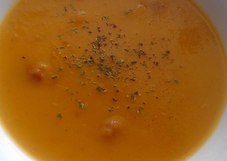 Simple Way to Make Super Quick Homemade Vickys Root Veg & Sausage Soup, GF DF EF SF NF