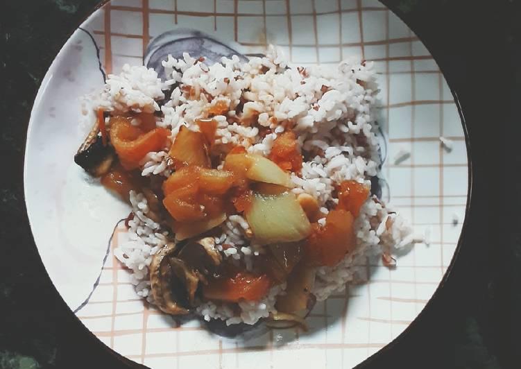 Recipe of Award-winning Tomato Veggie Rice