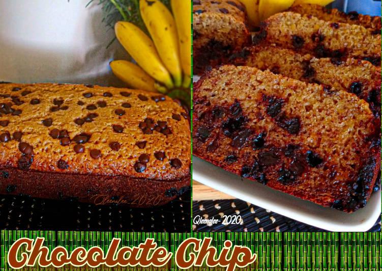 """Chocolate Chip Banana Bread""""Mudah Dengan Bread Maker"""""""