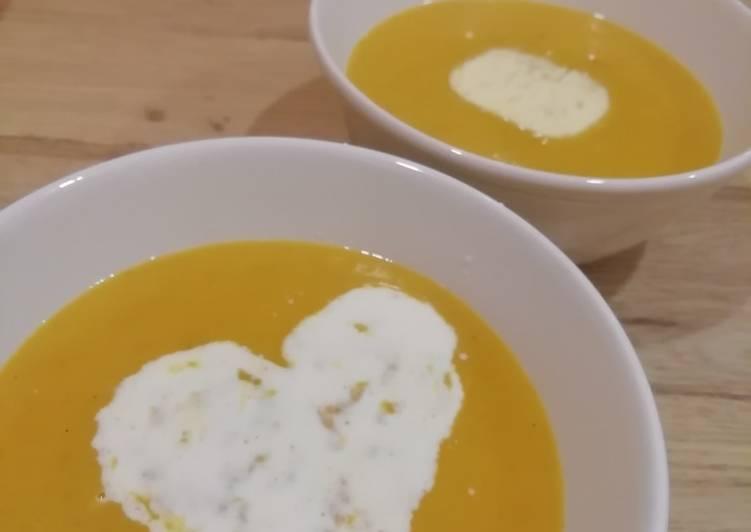 Recette: Soupe butternut / pâtisson