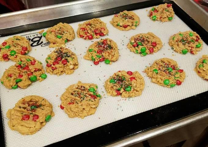 Recipe Good Peanut Butter Oatmeal M&M Cookies