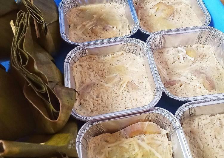 Carang gesing pisang kepok,roti tawar pandan keju