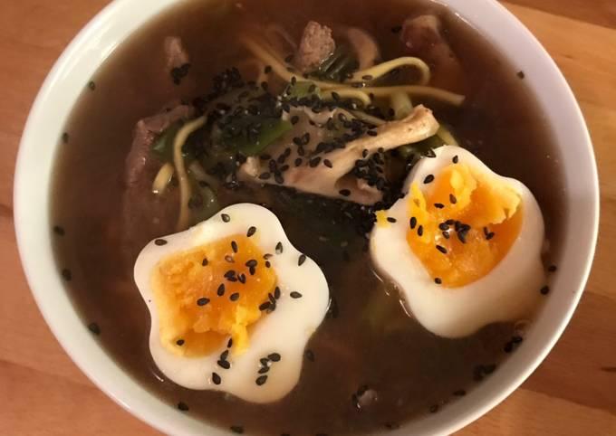 Beef ramen with ajitsuke tomago
