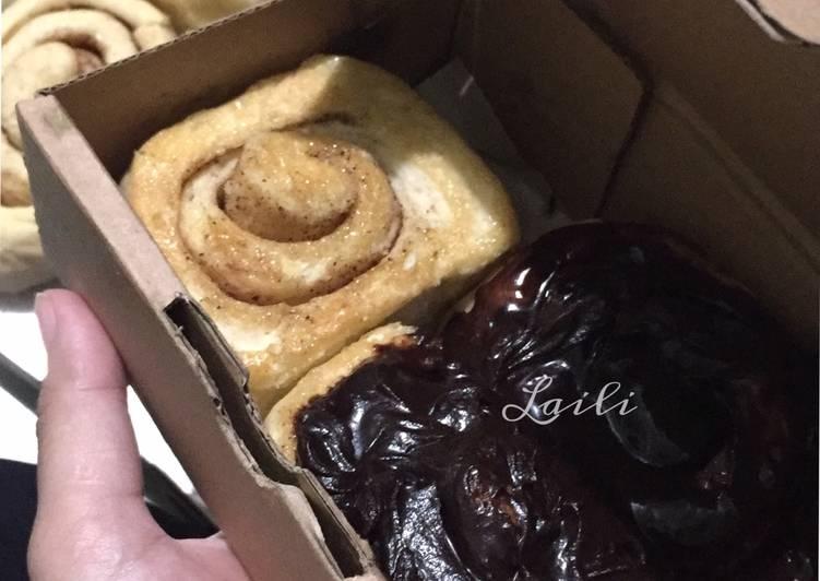 Cinnamon roll tanpa brown sugar