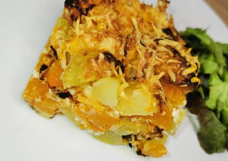 Recette Appétissante Gratin Butternut, pomme de terre