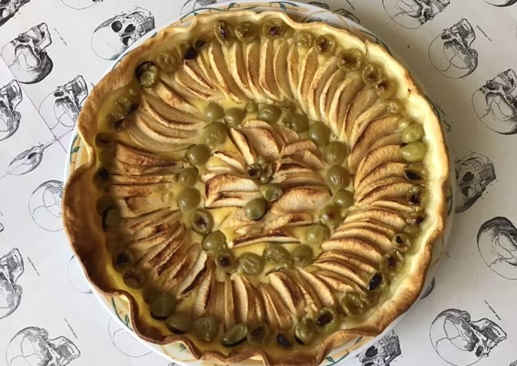 Le moyen le plus simple de Préparer Parfait Tarte aux pommes et raisins du jardin