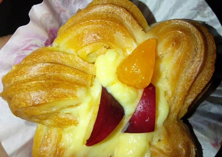 Resep Pai buah with vla custard Terenak