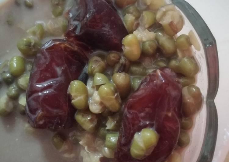 Resep Sarapan Sehat : kacang hijau, kurma, susu Paling Mudah