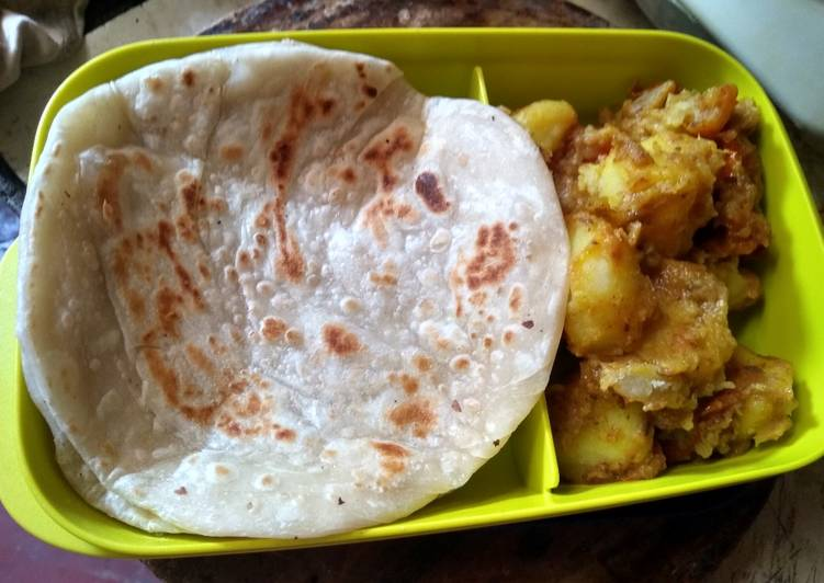 25 Minute Easiest Way to Make Cooking Lunch box paratha and milky dum aloo