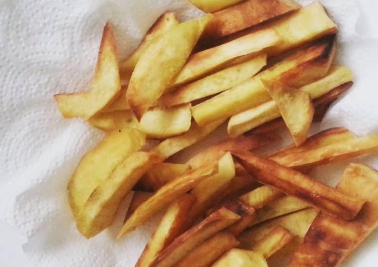 Simple Way to Make Super Quick Homemade Cassava fries