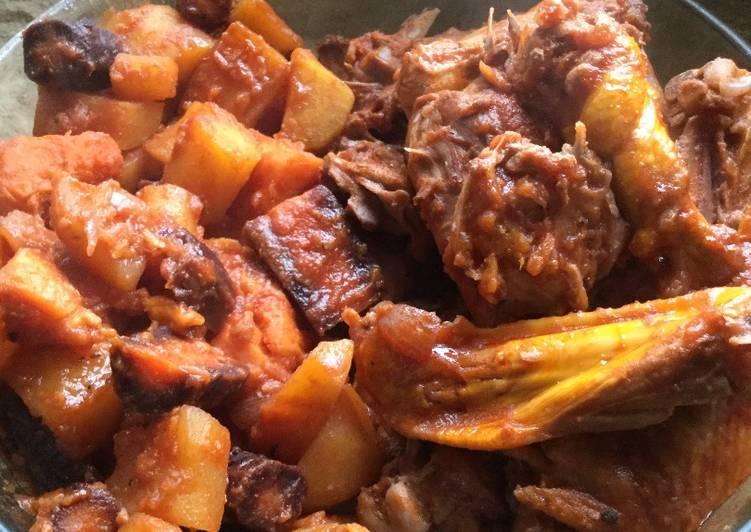 Recette Savoureux Poulet mijoté aux légumes