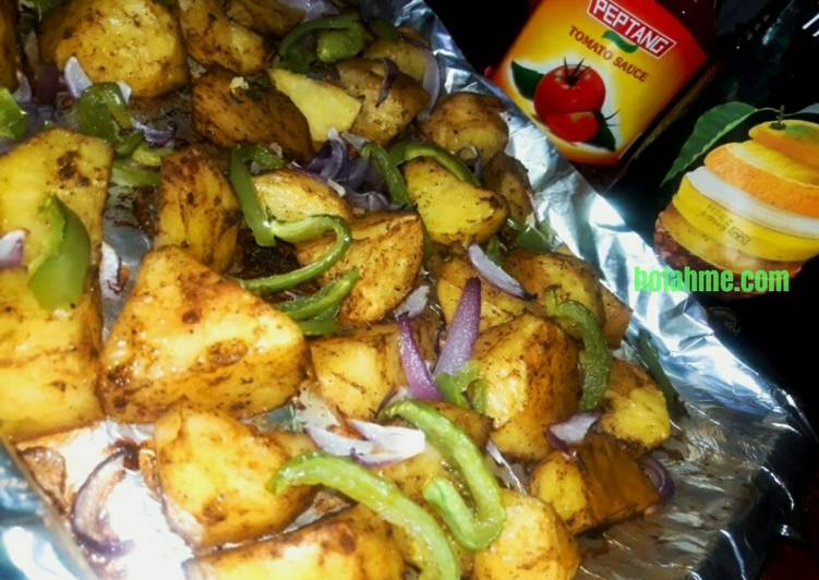 Herby Oven Roasted Potatoes #themechallenge #potatoes
