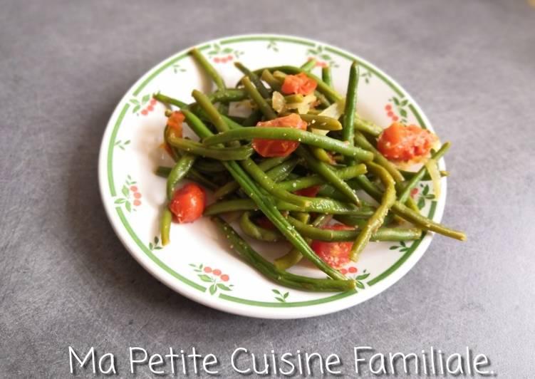 Poêlée de haricots verts et tomates cerises