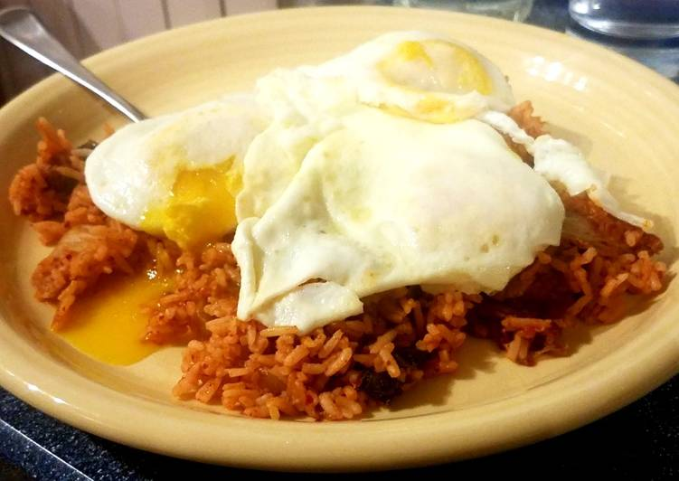 Kimchi Rice with Fried Eggs
