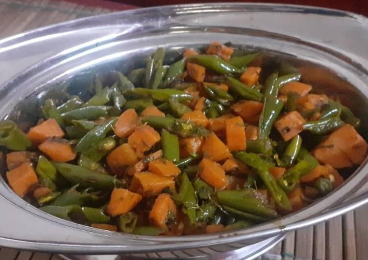 Easiest Way to Prepare Speedy Carrot and beans subzi