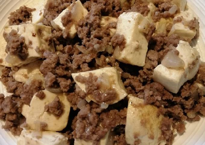 Tofu w/ Ground Beef