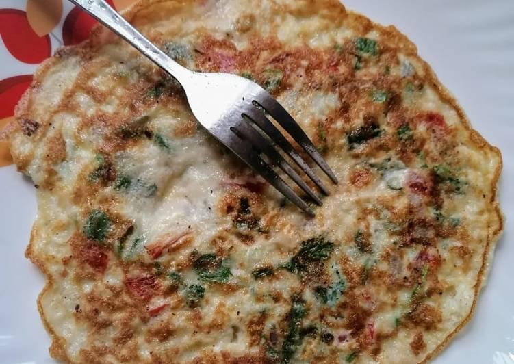 Delicious ommlette for breakfast