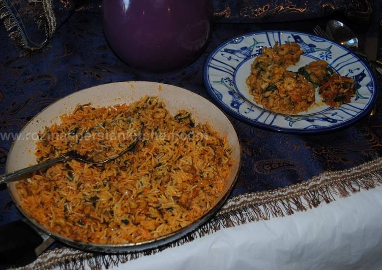 15 Minute Steps to Make Award Winning Persian spicy prawn with rice