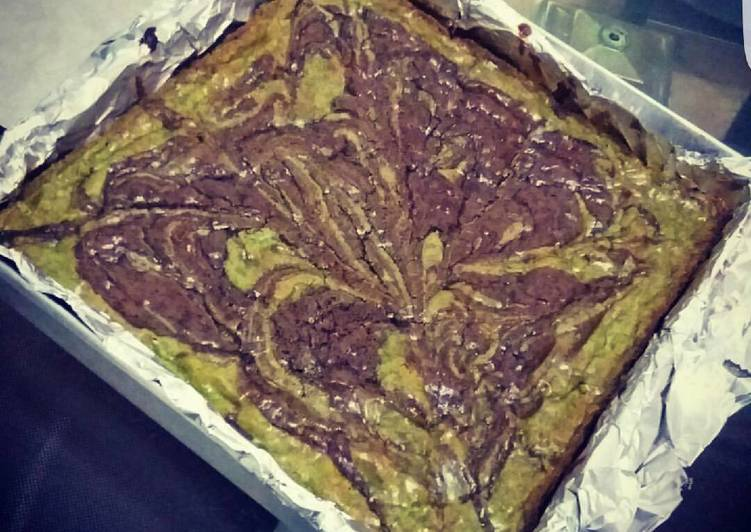 Green Tea Cadbury Marble Fudgy Brownies