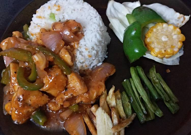 Quick chicken sizzlers(without sizzlers pan)