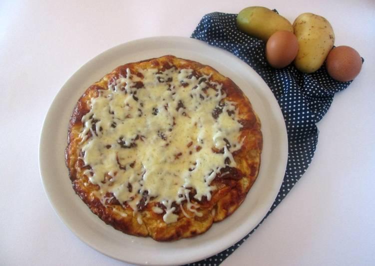 Frittata con patate arrosto e mozzarella