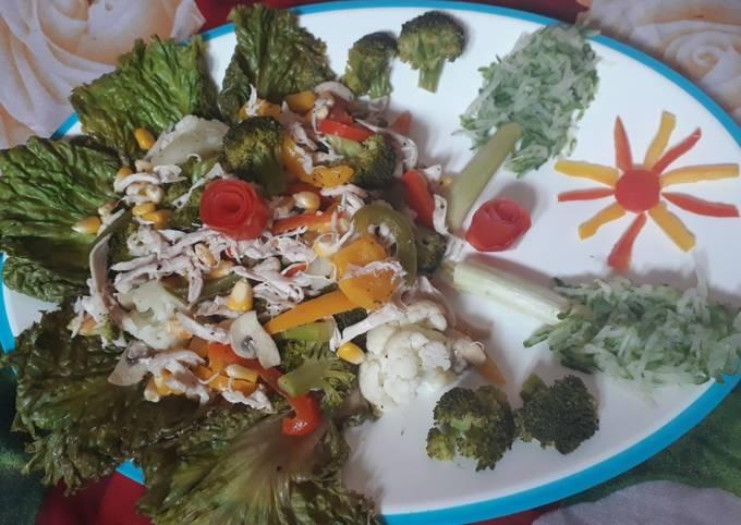 Healthy Chickveg Salad