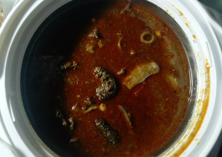 Recipe of Top-Rated Pepper soup (kayan ciki)