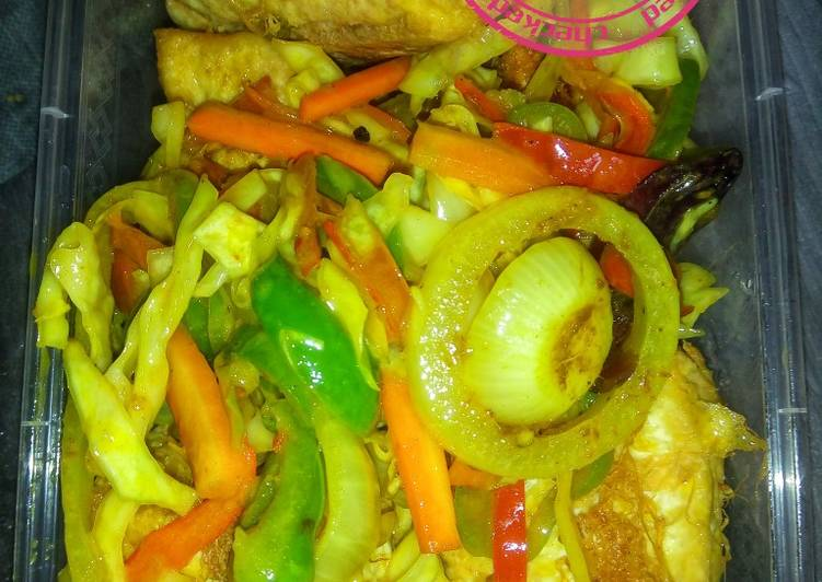 Awara and stir-fry vegetables