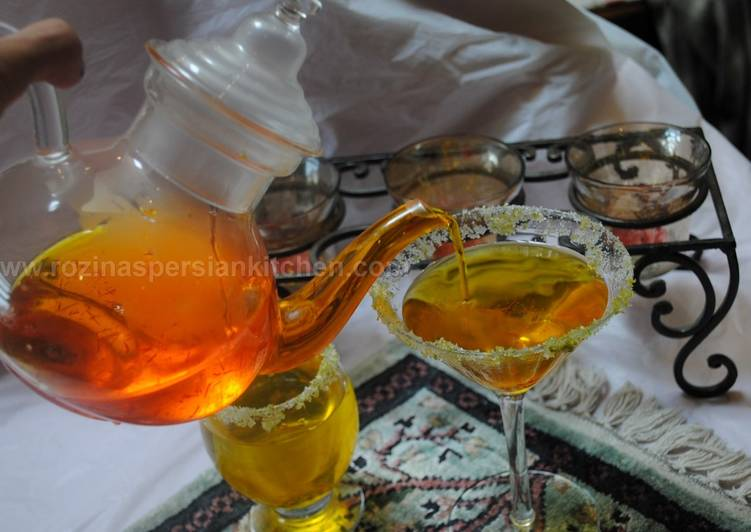 Recipe of Speedy Persian Saffron (Zafaran) sharbat