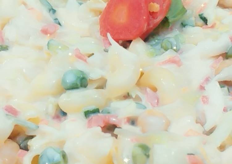 Creamy Fruits And Vegetables Salad Recipe By Areeba Masroor