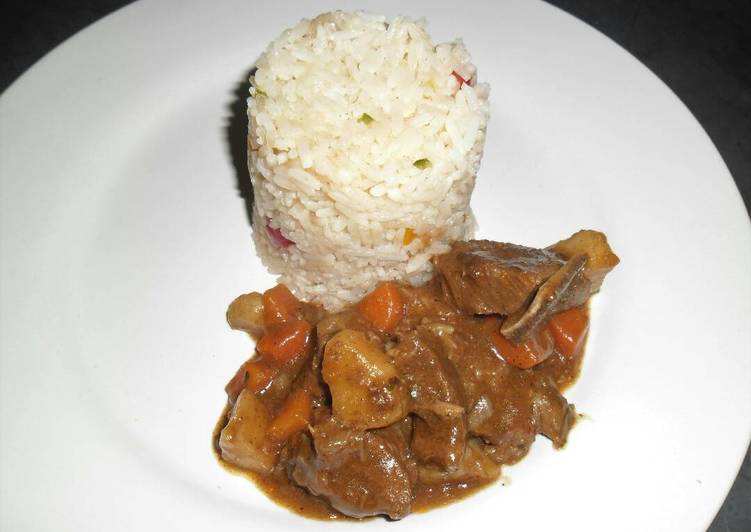 How to Prepare Perfect Beef stew with Savoury Rice