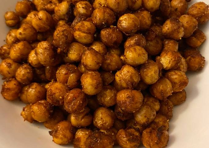 Chili lime air fried chickpeas