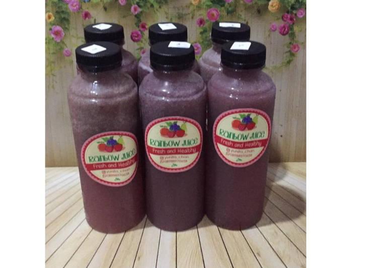 Diet Juice Longan Apple Pomelo Blackberry