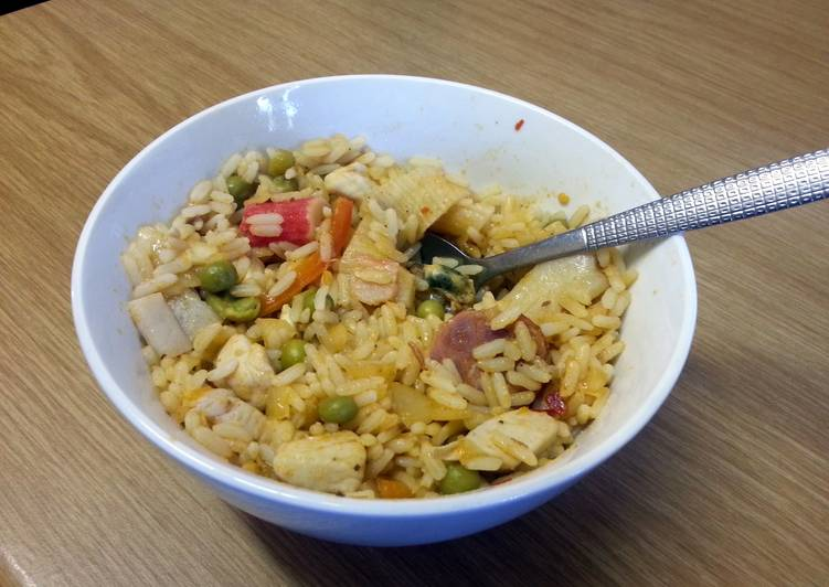 Simple Way to Prepare Super Quick Homemade Chicken and Seafood Paella