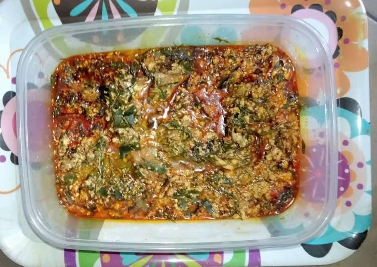 Recipe of Quick Egusi and ukazi soup