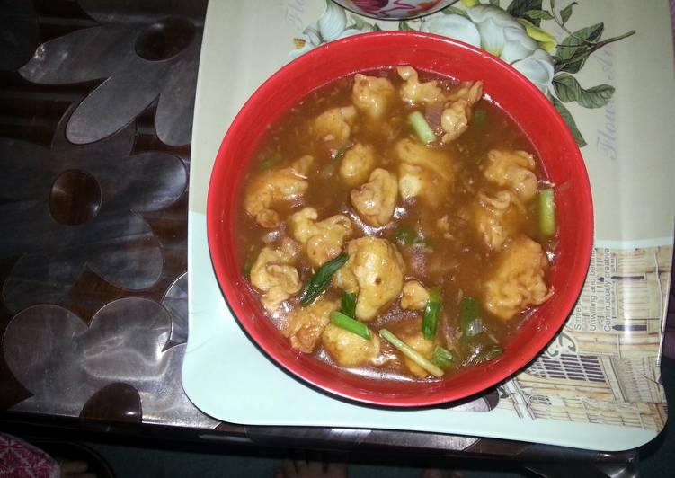 Chicken and Cauliflower manchurian