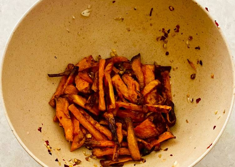 Garlic Spiced Yam Air Fries