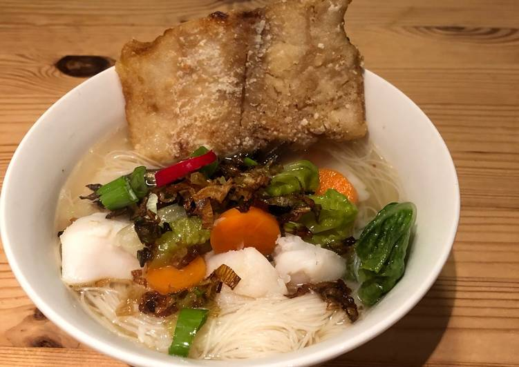 Fish Soup Rice Noodle Gluten Free Recipe By Diff Lim Cookpad